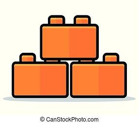 Vector toy blocks icon design