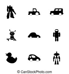 Vector toys icons set