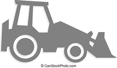 Vector tractor icon and symbol