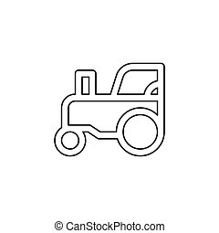 vector Tractor illustration, farm vehicle