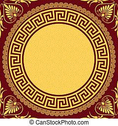 gold Greek ornament