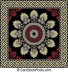 vector Traditional vintage gold Greek ornament Meander