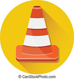 Vector Traffic Cone Icon