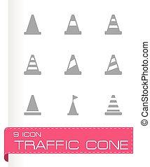Vector traffic cone icon set