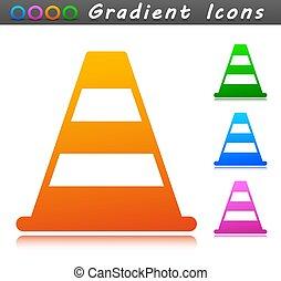 Vector traffic cone symbol icon