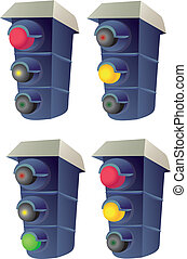 Vector Traffic lights - Four different schemes including ...
