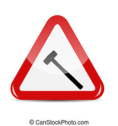Vector Traffic Sign isolated on white background