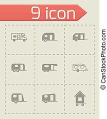 Vector trailer icon set