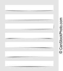 Vector transparent shadows. EPS-10.