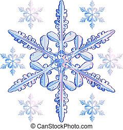 vector transparent snowflake