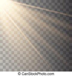 Vector transparent sunlight special