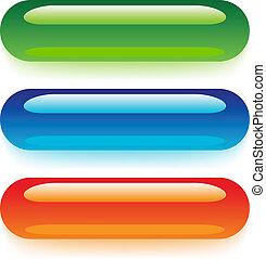 vector transparent web buttons