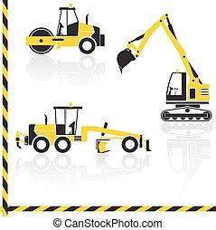 Vector transportation icon set.
