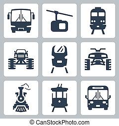 Vector transportation icons set