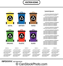 trash categories recycle  bin info graphic icon