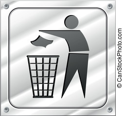 Vector trash design icon