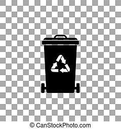 trash recycle garbage bin
