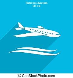 Vector travel airplane icon