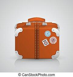 vector, travel., koffer