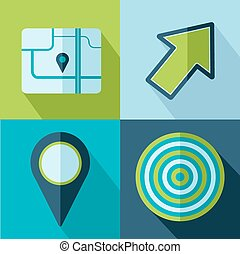 Vector travel set icons