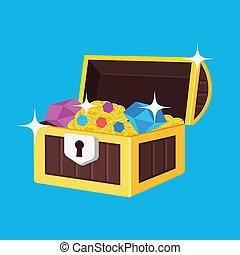 Vector Treasure Chest Icon