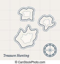 Vector Treasure Map Background