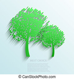 Vector tree background. Eps10