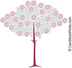 vector tree flourishes 2