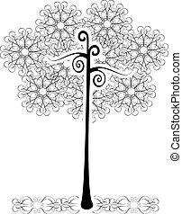 vector tree flourishes