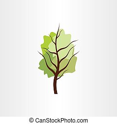 vector tree green design element