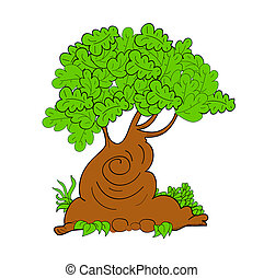 Vector tree illustration art cute