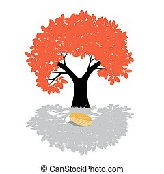 Vector Tree Illustration - Nature Symbol Isolated on White Background