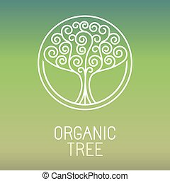 Vector tree logo - abstract organic design element - eco and...
