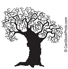 Vector tree on white