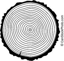 tree rings - vector tree rings