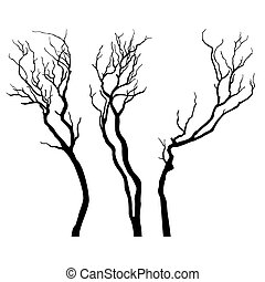 Vector Tree silhouette.