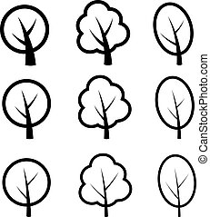 vector tree symbols