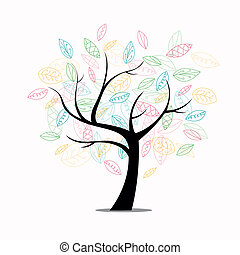 Vector Tree  - Vector Illustration of an Abstract Tree