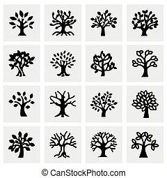 Vector Trees icon set