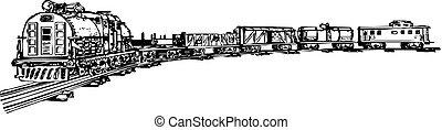 (vector, trem, illustration)
