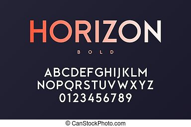 Vector trendy minimal sans serif bold font design, alphabet, typ