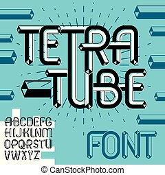 Vector Trendy Vintage Capital English Alphabet Letters Abc Collection Funky Font Typescript Can