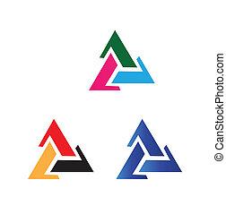 vector, triángulo