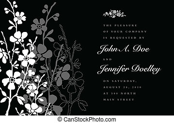 Vector Tri Tone Floral Background
