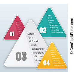Vector triangle background. Color object
