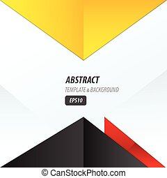 vector triangle design yellow, black, red