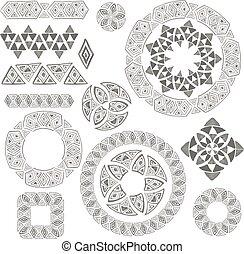 Vector tribal design elements