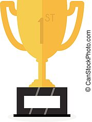 Vector Trophy Cup Flat design Icon