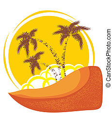 Vector tropical island background