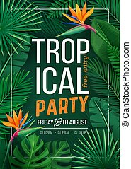 tropical party banner